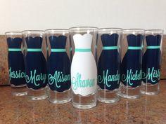 Wedding Glasses, Personalized Bachelorette/Bridesmaid Shot Glasses, Wedding Party Glasses (7)