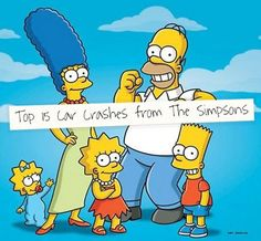 Top 15 Car Crashes from the Simpsons - Hilarious! #thesimpsons