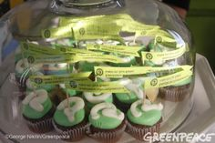 We made #vegan cupcakes for Pinterest employees at their SF HQ to ask them to make our pins green with 100% clean energy! #clickclean  http://www.greenpeace.org/usa/clickclean/