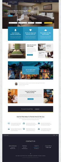 Shape5 - Joomla Template - Luxon is the ultimate hotel and accommodations template. Showcase off your resort or hotel in style and with great aesthetics.