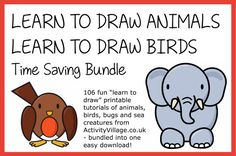 Learn How to Draw Animals. Great step-by-step picture instructions on how to draw TONS of animals!