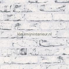 Tapeta klinker New England crno bijela White Brick Wallpaper, Look Wallpaper, White Brick Walls, Grey Brick, Embossed Wallpaper, Wallpaper Panels, Textured Wallpaper, Wall Wallpaper, Pattern Wallpaper