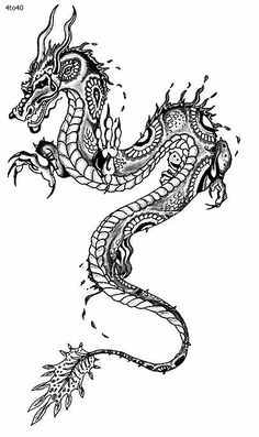 Simple Chinese Dragon Tattoo images