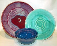 Dinner Plates and Salad Plates by Jason Silverman Ceramics. American Made. See the designer's work at the 2015 American Made Show, Washington DC. January 16-19, 2015. americanmadeshow.com #plates, #dinnerplates, #saladplates, #ceramic, #pottery, #americanmade