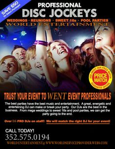 Planning something let us help you with your next event and i most can make sure you will have a great time with our professional DJ'S. Call and book today!!!