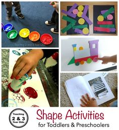 10 Simple Shape Activities for Toddlers and Preschoolers from Teaching 2 and 3 Year Olds