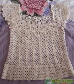 شغل ابره NEEDLE CRAFTS: بلوزه كروشيه رائعه-beautiful crochet bluse