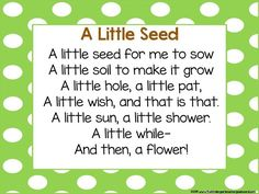 Plant poem! A poem for learning about plants, flowers and gardens!