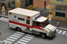 Custom City Ambulance model Medic emt red built by ABSDistributors