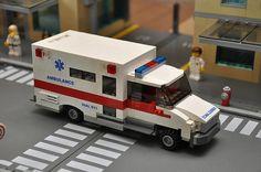 Custom City Ambulance model Medic emt red built by ABSDistributors