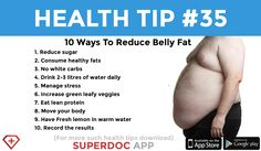 """10 ways to reduce fat"""