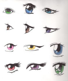 variety of cartoon eyes template vector great for reference