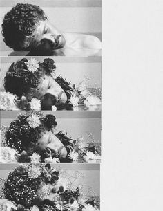 The dream of flowers by Duane Michals, 1990.