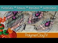 Polymer clay tutorial: disegno ed incisione - drawing and incision - orecchini - earrings - YouTube
