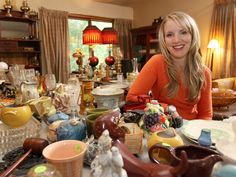 HGTV host Cari scours estate sales, garage sales and auctions and buys and flips her found treasures