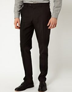 ASOS Slim Fit Smart Trousers In Black