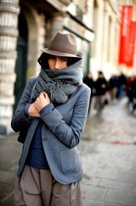 A fedora and scarf