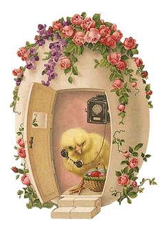 Vintage Easter Wishes card Easter Art, Hoppy Easter, Easter Crafts, Easter Bunny, Easter Chick, Easter Vintage, Vintage Holiday, Vintage Greeting Cards, Vintage Postcards