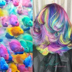 Pastel Rainbow Hair Instagram-@CryistalChaos
