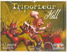 Cerveja Triporteur From Hell, estilo Belgian Dark Strong Ale, produzida por B.O.M. Brewery, Bélgica. 6.6% ABV de álcool.