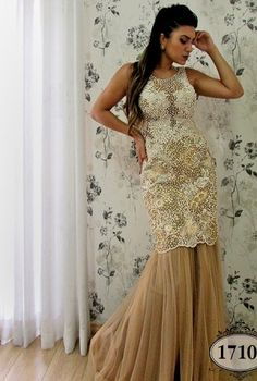 Coleção Ouro - Vestidos Longos - Aiza Collection
