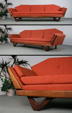 do it yourself furniture Mid Century Modern Design, Mid Century Modern Furniture, Modern Sofa, Mod Furniture, Vintage Furniture, Furniture Design, Mid Century Decor, Mid Century House, Sofa Design