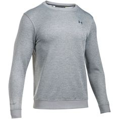 Under Armour Storm Crew Sweater Fleece ($65) ❤ liked on Polyvore featuring men's fashion, men's clothing, men's sweaters, sale men knitwear, mens crew neck sweaters, mens sweaters, mens jumpers, mens knitwear and mens crewneck sweaters