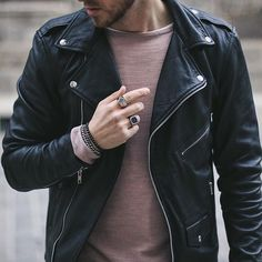 VIPARO Black Lambskin Leather biker Marlon Brando Jacket
