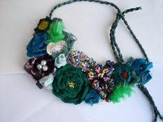 Handmade forest  Necklace secret Garden bird nest by seragun, $65.00
