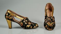 Evening shoes c. 1933 | Saks & Company | American | The Metropolitan Museum of Art