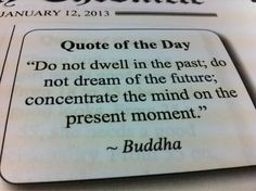 Be Present..In the Present