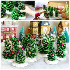 Kerst dennenappels kerstboom