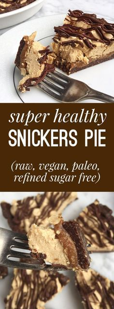 Healthy Snickers Pie (Raw, Vegan, Gluten + Grain Free, Refined Sugar Free)