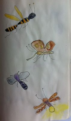 bugs in journal by @Suzan van Delft
