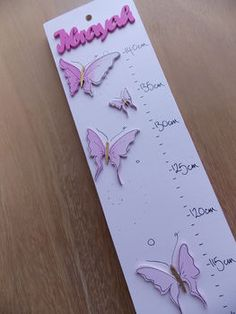 Personalised Pink Butterflies Height Chart by Hickory Dickory Designs, the perfect gift for Explore more unique gifts in our curated marketplace. Diy For Girls, Baby Girls, Pink Butterfly, Butterflies, Girls Height Chart, Wooden Height Chart, Personalized Growth Chart, Growth Charts, Newborn Baby Gifts