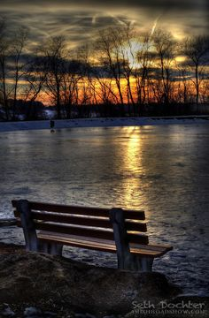 """Seth Dochter Mar 9, 2014 """"Iced Sunset"""" is today's pic of the day! I captured this shot last weekend while the little lady and I visited the Ephrata Township Community Park."""