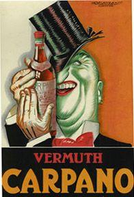 Vintage Italian Posters ~ #Italian #vintage #posters ~ Vermouth Carpano Unico de Torino, Luciano Achille Mauzan