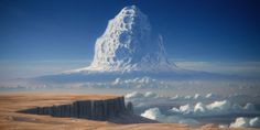 Asteroid mountain by JustV23.deviantart.com on @DeviantArt