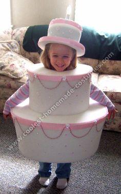 Birthday Cake-Shaped Homemade Halloween Costume