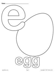 Letter E Alphabet Coloring Pages