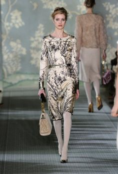 I'd have to lose the horrible white tights, though. Tory Burch Fall 2012