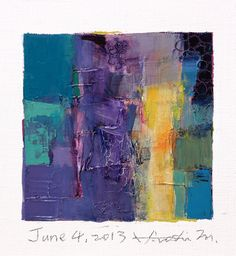 Hiroshi Matsumoto is one of my not-so-guilty pleasures artists. He does these tiny daily abstracts that just make my heart sing. This one is: june042013. You can find him on Etsy too.