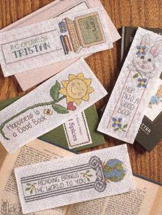 Free Little Learner Bookmarks Cross-Stitch Pattern -- Download this free cross-stitch bookmark pattern from FreePatterns.com.