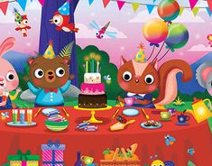 Created in Photoshop CC, this is a personal portfolio piece of cute characters at Bear's Birthday. Bear Birthday, Personal Portfolio, Cute Characters, New Work, Bears, Character Design, Behance, Profile, Gallery