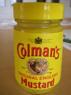 Colman's Mustard!  Like a dance party on your tongue!