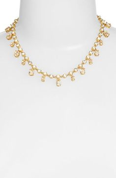 kate spade new york small faux pearl collar necklace available at #Nordstrom