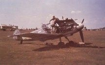 Messerschmitt Bf 109 G 'White 5' of JG 52 being serviced somewhere on the Eastern Front
