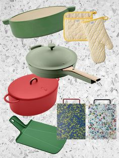 The best colorful dishes, cookware, and kitchen tools
