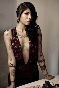 Christina Perri  Obsessed with her tattoos!