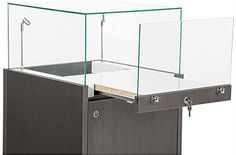 retail jewelry case drawer glass top - Google Search
